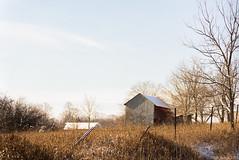 """Winter on the Farm"" (D A Baker) Tags: road tree dan grass barn rural fence landscape landscapes wire baker farm daniel country barns indiana da roads backroads backroad hoosier danielbaker danielabaker"