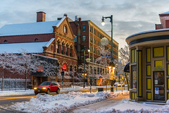 Congress & Park (Corey Templeton) Tags: street city morning november winter urban snow portland other nikon unitedstates snowy maine newengland portlandmaine 2014 parkstreet congressstreet d600