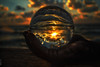 hold on (Eran Kaslasi) Tags: sunset sea sun reflection water clouds ball freedom free moment hold hend