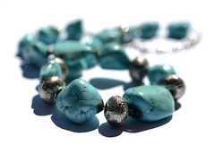 Beads (PhotosbyDi) Tags: stilllife beads turquoise jewelry jewellery 007100 nikond600 009365 tamronf2890mmmacrolens weeklycolourchallenge