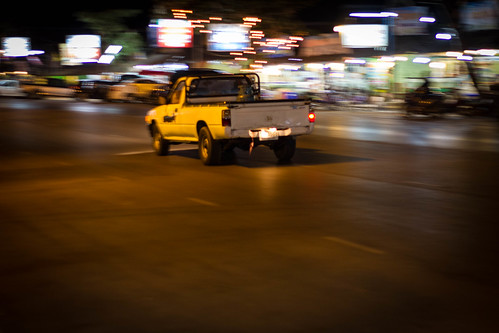 Racing through the Mae Pim main drag