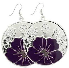 Glimpse of Malibu Purple Earrings P5410A-1