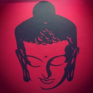 #buddha #wallart #reddish #interior #peace #red&black #smile #deepness