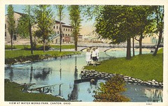 View at Water Works Park (Miami U. Libraries - Digital Collections) Tags: nature digital postcard parks collection streams miamidigitalcollections ohiocanton collectionsbowden bowdenpostcardcollectionmiami
