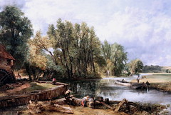 IMG_1560L John Constable. 1776-1837. Stratford Mill. 1820.     Londres National Gallery. (jean louis mazieres) Tags: greatbritain london museum painting gallery unitedkingdom muse londres museo peintures peintres grandebretagne nationalgalleryjohn constablenational