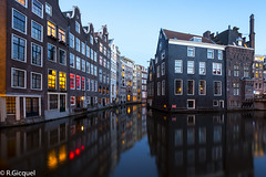 Amsterdam (renan4) Tags: trip travel houses light reflection water amsterdam night nikon europe cityscape bluehour renan d800 1635mm gicquel renan4