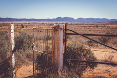 Open Gate (Wilson Cemetery) (Filippo Pappalardo) Tags: red abandoned cemetery bush rust gate dry australia outback southaustralia flindersranges