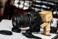 Danbo X Nikon (Jhungie4007) Tags: life camera toys photography 50mm still amazon nikon d60 danbo d90