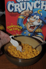 There's a hair in my cereal, Cap'n       62/100 (Marked_man) Tags: smile breakfast paper fun funny character humor cartoon cereal spoon bowl laugh yuck ewww mustache yucky capncrunch yeck 100possibilitiesproject imustacheyou