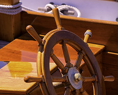 Wooden Wheel (joegeraci364) Tags: ocean new wood sea england cloud seascape heritage nature water weather boat marine ship action yacht outdoor antique connecticut craft vessel atlantic maritime boating sail mast nautical