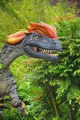 Flaming hair (Tony Shertila) Tags: england weather gardens clouds model europe day cheshire dinosaur cloudy britain outdoor exhibition chester growth jungle jurassic dinosaurs extinct upton chesterzoo dinosauria botinicalgardens tiassic 20160601104354