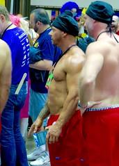 IMG_3890 (danimaniacs) Tags: shirtless man hot sexy pecs hat beard muscle muscular hunk cap stud scruff dragcon