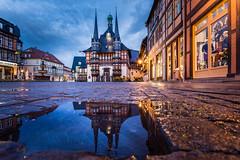 Rathaus Werniger mit Spiegelung (n_held_fotografie) Tags: steffi urlaub freunde harz studenten wernigerode nachtaufnahmen