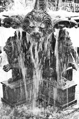 Houmas House 14 (tjean314) Tags: lion lions statue sculpture water fountain 2016 tjean314 louisiana darrow house houmas plantation gardens antebellum home ascension lps johnhanley public allphotoscopy20052016johnhanleyallrightsreservedcontactforpermissiontouse black white monochrome