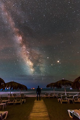 Via Lactea en la playa... (elpitiuso) Tags: sea sky beach night stars landscape lights luces noche nikon nightscape playa highlights ibiza estrellas longexposhure