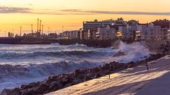 DSC_0237 (sergeysemendyaev) Tags: sunset sea storm beach spring warm waves russia dusk adler atthebeach seashore blacksea seacoast bigwaves sochi  2016                 duringf1 1 duringformulaone