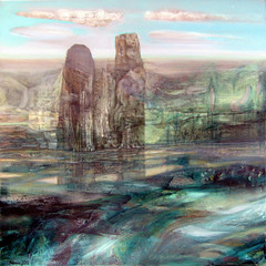 Alexey Adonin  Afflatus, 2010. Painting: oil on canvas.  Soft astral landscape.Source SurrealLandscapeFantasy (ArtAppreciated) Tags: art painting landscape contemporary surrealism fineart surreal blogs fantasy artists mysterious fi dreamlike israeli futuristic sci scapes dreamscape alexey artblogs tumblr artoftheday artofdarkness adonin artappreciated artofdarknessco artofdarknessblog