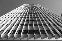DTLA (Drew Gallegos) Tags: street city sky urban blackandwhite lines architecture skyscraper landscape la losangeles downtown symmetry lookingup dtla bnw sonyrx100m2