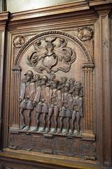 Relief carving of churchmen (quinet) Tags: sculpture church germany kirche carving relief glise stnicholaschurch schleswigholstein nikolaikirche 1636 2014 eckernfoerde schnitterei hansgudewerdt