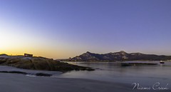 naomi160425-197 (Naomi Creek) Tags: sunset sky mountain beach water boats golden boat sand rocks gradient killiecrankie flindersisland