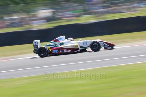 Sennan Fielding in British Formula Four during the BTCC weekend at Oulton Park, June 2016