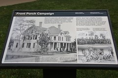 0U1A7027 James A Garfield NHS - interpretive sign, Front Porch Campaign (colinLmiller) Tags: ohio house museum us nps president dot nhs nationalparkservice mentor 2016 usdepartmentoftheinterior jamesagarfieldnationalhistoricsite
