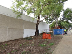 Modbury Triangle's Exterior Walls being painted white (RS 1990) Tags: july shoppingcentre adelaide walls thursday southaustralia 7th upgrade 2016 repainting modbury teatreegully modburytriangle