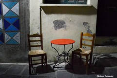 (Eleanna Kounoupa) Tags: lighting night table cafe chairs greece crete oldtown rethymnon   historiccitycenter   hccity