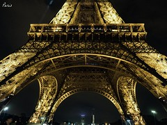 Eiffel Tower (jim2302) Tags: christmas longexposure holiday paris france tower night december eiffel 2015