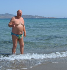 In the sea on Tingaki beach (pj's memories) Tags: beach kos tingaki tanthru kiniki