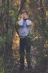 lost (goodgirlbetty) Tags: boy portrait forest canon studio lost child 85mm indie bushland