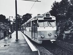 Gothenburg Tram (denver662) Tags: blackandwhite bw team sweden gothenburg rail goteborg iphonephotography
