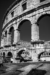Pula Arena' (pietkagab) Tags: pula arena colosseum ruins remains architecture building bw croatia europe ancient pietkagab piotrgaborek photography pentax pentaxk5ii travel trip sightseeing adventure