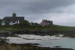 Île d'Iona, avec l'abbaye au loin
