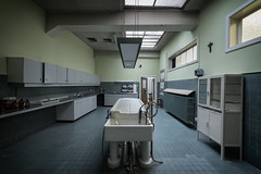We will wash away all your sins (Kriegaffe 9) Tags: hospital death porcelain slab morgue mortuary