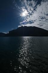 lake minewaka (Alanpaone) Tags: silhouette banff sunstar minewakalake