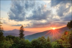 With a Wink and a Smile (FiddleFlix) Tags: sunset usa mountains northcarolina overlook hdr blueridgeparkway coldmountain 5xp