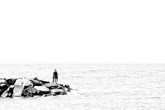 fishing nowhere (max:mazz) Tags: rx100m2 pescatore fisherman rivaligure liguria italia blackwhite biancoenero bw bn highcontrast altocontrasto mare sea