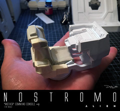 NOSTROMO-MOTHER-CHAIR6 (sith_fire30) Tags: alien nostromo scratchbuilding model building sheet styrene diorama prometheus covenant narcissus shuttle ripley rildley scott mother muthur6000 sithfire30 dayton allen custom action figure