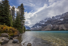 Bow Lake (MooseNut12) Tags: canon6d canon1635mmf4lis landscape sunstar jasper alberta canadianrockies bowlake