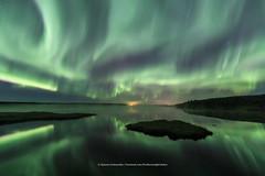 Smoke on the water (Kjartan Gumundur) Tags: iceland sland pond reflection auroraborealis northernlights norurljs nocturne nordlys zorzapolarna stars sky canoneos5dmarkiv tokinaatx1628mmf28profx kjartangumundur arctic photoguide
