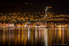 Bergen at night (Sladjan S) Tags: norway night canon long exposure bergen 700d