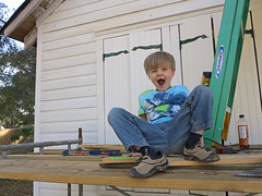 scaffoldcrazy (babyfella2007) Tags: pictures door old school boy house jason building sc face yard work project bug carson monkey wooden scaffolding hand photos snake unique grant south father cottage working son tools porch taylor shutters carolina timeline scaffold ladder siding beaufort forged hinges 2014 ridgeland jct batesburg