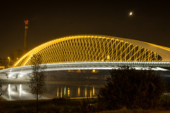 Troja new bridge (kaddafi210) Tags: new bridge moon architecture modern night lights design czech prague steel samsung style prag troja praha most pancake vltava 302 csc noc holesovice chimmey newdesign komn mirrorless nxseries nx210 trojskymost