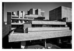 The Royal National Theatre (Barnaby Nutt) Tags: wood white black concrete theatre unitedkingdom grain national brutalist denys shuttered shuttering lasdun