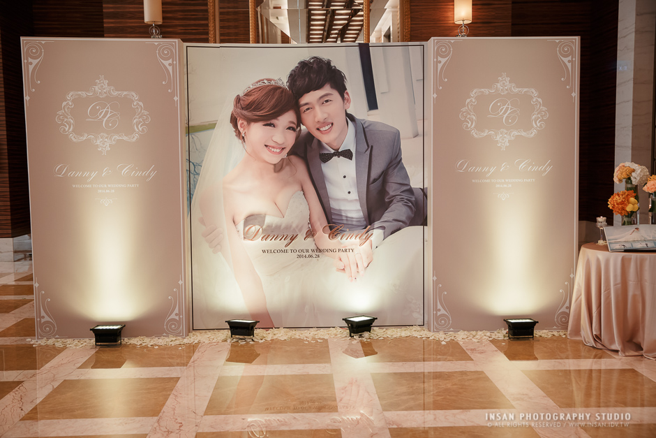 [婚禮記錄] Danny+Cindy // 婚禮@ {大直典華 花田盛事廳}