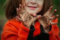 Muddy Hands! (Vegan Butterfly) Tags: playing nature girl fun kid vegan hands funny child play mud dirty messy homeschool muddy homeschooling