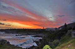 Sunset - Hermanus, South Africa (stevelamb007) Tags: ocean africa sunset beautiful hermanus clouds southafrica town zonsondergang colorful tramonto waves sonnenuntergang indianocean afrika afrique westerncape auringonlasku d90 matahariterbenam stevelamb