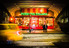 Pershing Square NYC (THE.ARCH) Tags: nyc newyorkcity night lights cafe taxi pershingsquare newyorkny