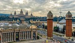 Plaza de Espaa - Barcelona (bervaz) Tags: barcelona nikon catalunya 18200 catalua montjuic lasarenas 18200mmf3556 d7000